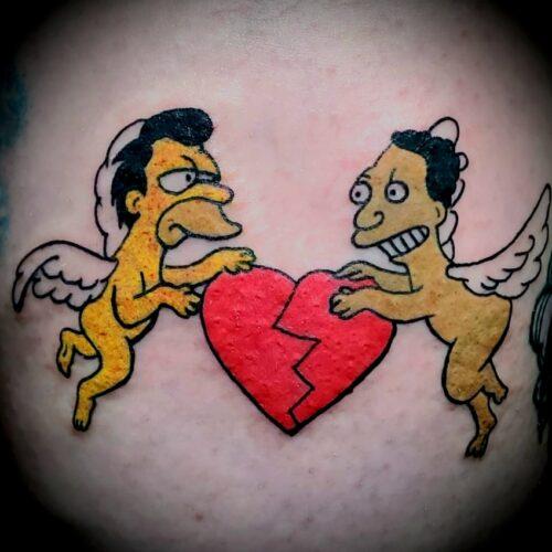 Chris Dorn Simpsons Tattoo