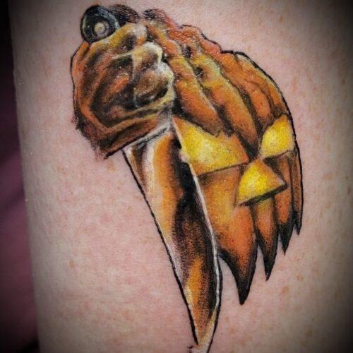 Chris Dorn Pumpkin Tattoo