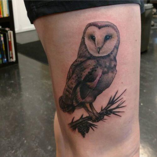 Karl Schneider owl tattoo