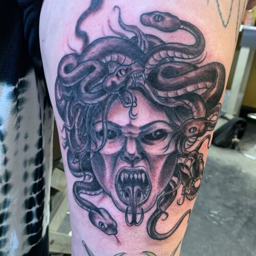 Medusa tattoo by rob foster in mankato