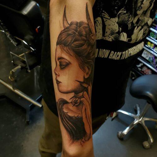 tattoo by Karl Schneider in Mankato