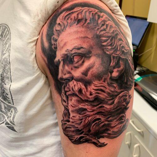 zeus tattoo by rob foster in mankato